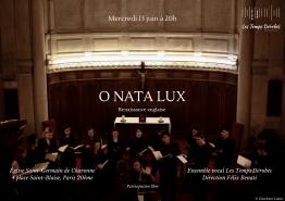 « O Nata Lux » – Le mercredi 13 juin 2018, à l'Église Saint-Germain de Charonne, Paris 20e, © Charlotte Lakits