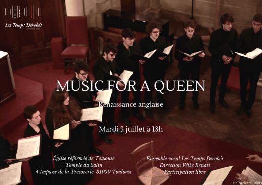 """""""Music for a Queen"""" - Le mardi 3 juillet 2018 à l'église Réformée de Toulouse - Temple du Salin, © Charlotte Lakits"""