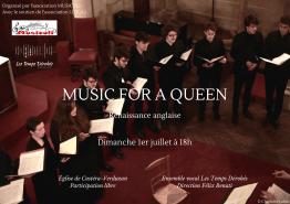 """""""Music for a Queen"""" - Le dimanche 1er juillet 2018 à l'église de Castéra-Verduzan, © Charlotte Lakits"""