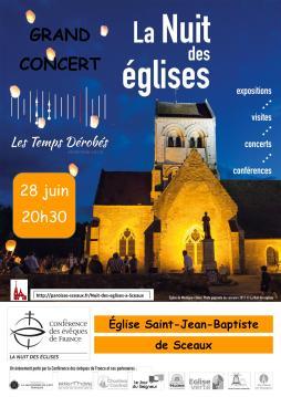 """""""Pénombre : Du Nocturne et Des Ténèbres"""" - Le 28 juin 2019 - Grand concert de la nuit des églises - Sceaux"""